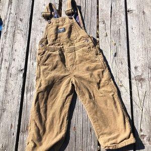 Oshkosh Flannel Lined Corduroy Overalls